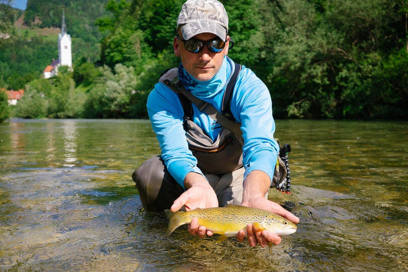 Idrijca brown trout - Go Flyfishing guides